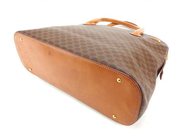 891fca7e9295 Celine CELINE handbags pleasing men allowed macadam Brown x light brown x  Gold PVC x leather with popular sale H313