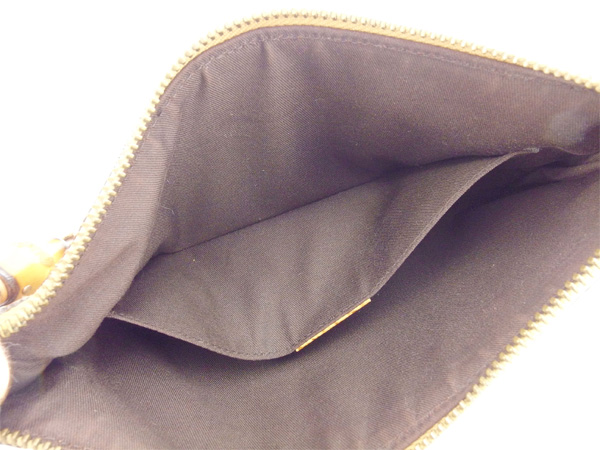 7fd6cbf59272 ... Gucci GUCCI shoulder bag accessories porch Lady's bamboo shoulder GG  canvas 124289 beige X natural X