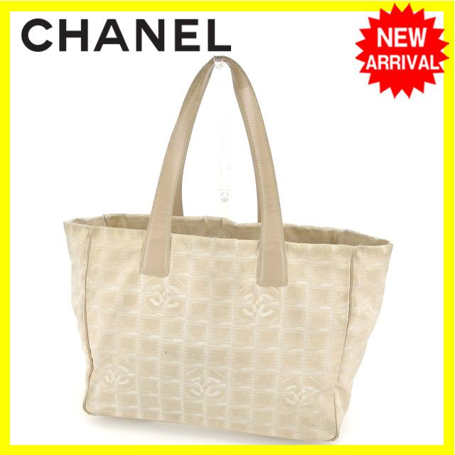【中古】 シャネル トートバッグ ショルダーバッグ Chanel ベージュ Q171s