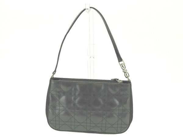 Christian Dior Christian Dior shoulder bag one shoulder Lady s lady Dior  black X silver canvas X leather (correspondence) quality goods sale N341 1663ec116a8dd