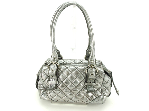 Francesco biasia FRANCESCO BIASIA bag ladies silver mini Boston bag leather  (compatible) non-defective popular D1544 ☆ 186aaeee63675