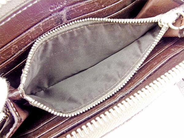 クロエ Chloe 長財布 財布 ラウンドファスナー ダークブラウン×ブラック系 レディース メンズ ユニセックス 合皮 サイフ 小物 ブランド 人気 贈り物 迅速発送 在庫処分 男性 女性 良品 夏 1点物 T2273fbg6yvY7