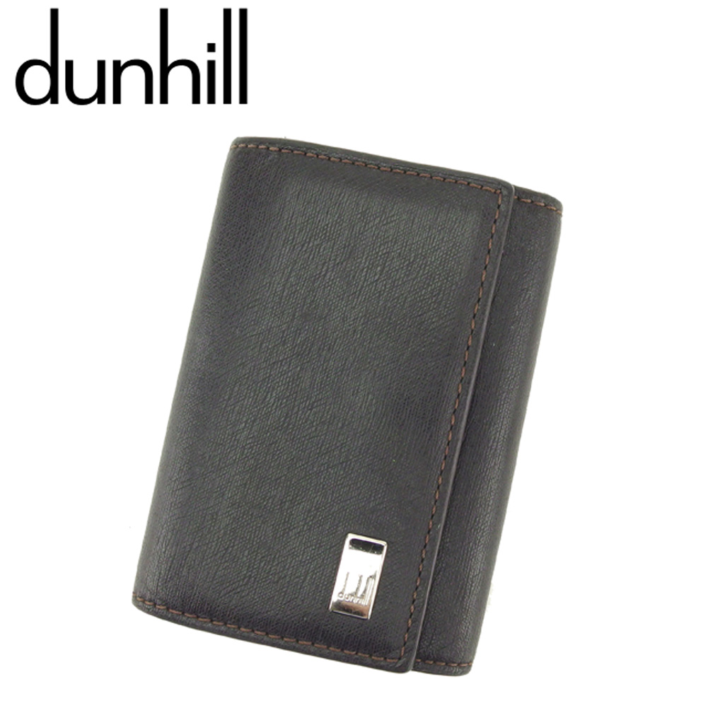 【中古】 ダンヒル dunhill キーケース 6連キーケース メンズ サイドカー ブラウン シルバー レザー 訳あり セール T8205