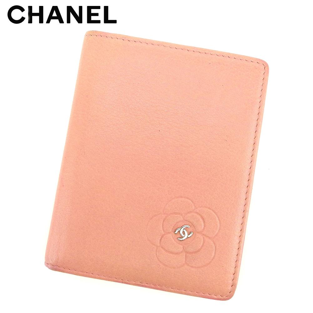 【中古】 シャネル CHANEL カードケース カード 名刺入れ レディース ピンク レザー T8501