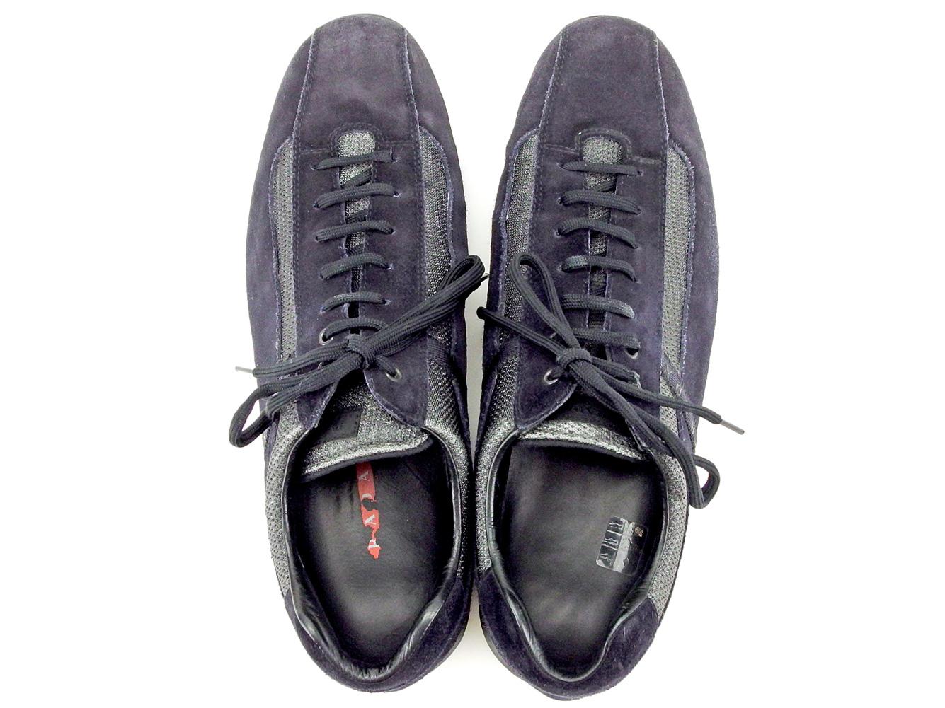 5a0a3bc86 ... Prada PRADA sneakers sports shoes shoes men black nylon X leather  popularity sale C2944 ...