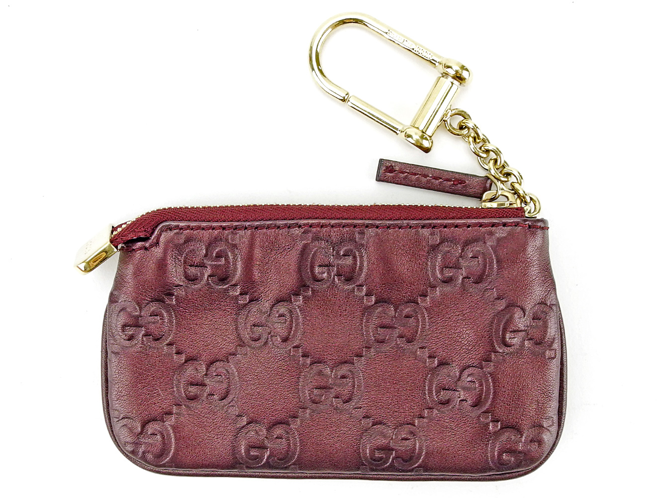b9bb7df35ab5 ... Gucci sima dark purple X gold leather beauty product sale T3681 with  the Gucci GUCCI coin ...