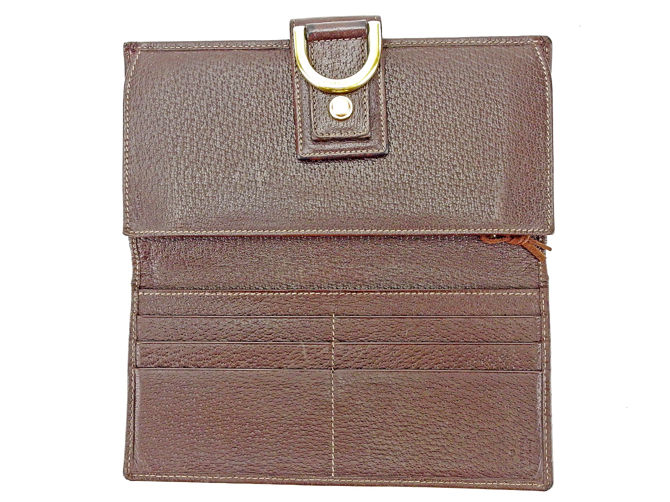 e199db034e0 BRAND DEPOT TOKYO  Wallet Gucci beige X brown X gold S620s with the ...
