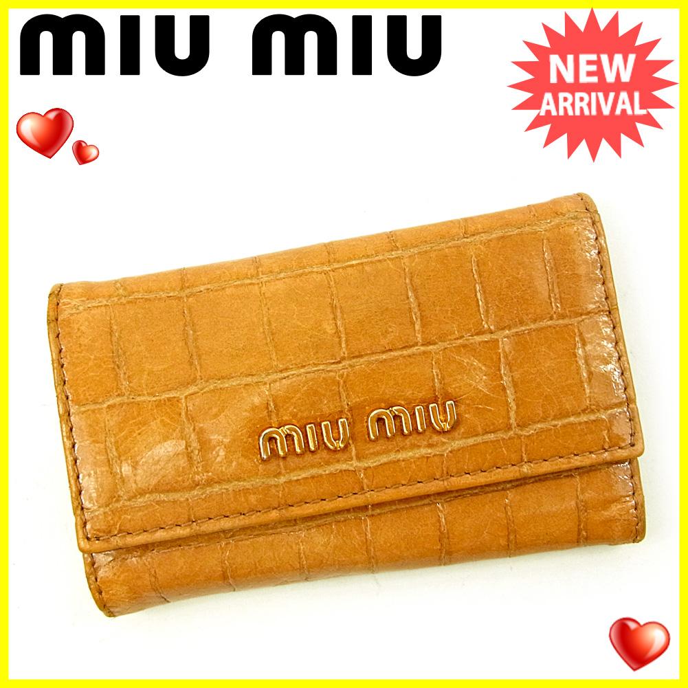 buy popular 2e809 2eb93 クロコダイル型押し 可 メンズ レディース 6連キーケース キー ...
