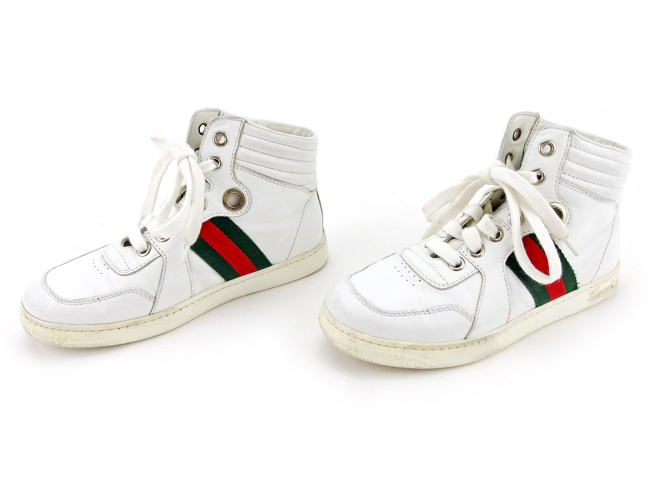 1c90bbf04 ... Gucci GUCCI sneakers shoes shoes girls Boys possible ♯ 30  ハイカットキッズウェビングラインホワイト X ...