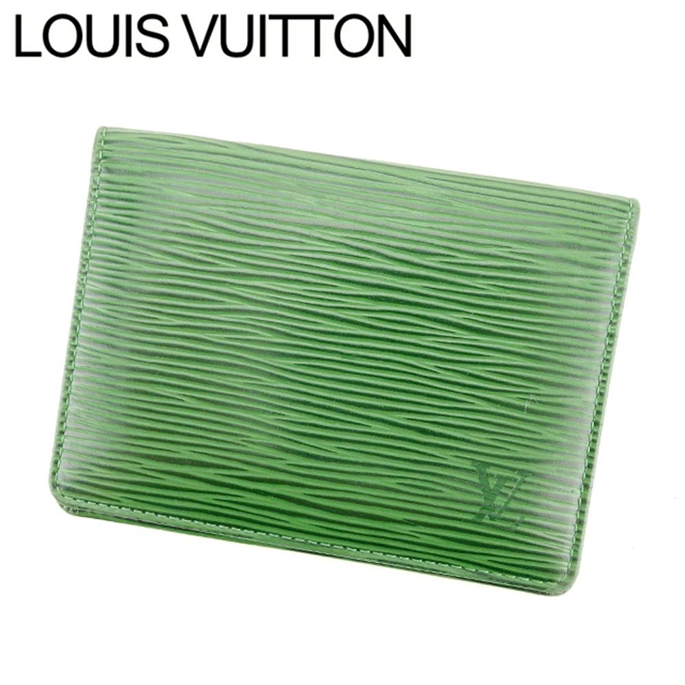 【中古】 ルイ ヴィトン Louis Vuitton 定期入れ パスケース メンズ可 ポルト2カルトヴェルティカル エピ グリーン エピレザー 廃盤 レア E1226 .
