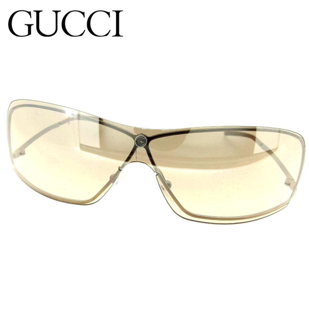 471cc2e56fd Gucci GUCCI sunglasses glasses eyewear lady s men s possible one-length  brown silver plastic X silver metal fittings sunglasses F1322s