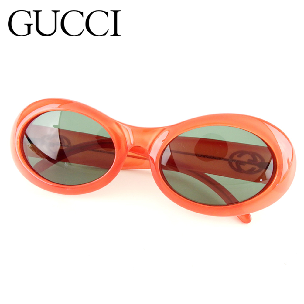 a4bc8a4558c Gucci GUCCI sunglasses glasses eyewear Lady s Oval interlocking grip G  double G pink black silver plastic X silver metal fittings popularity sale  G1233