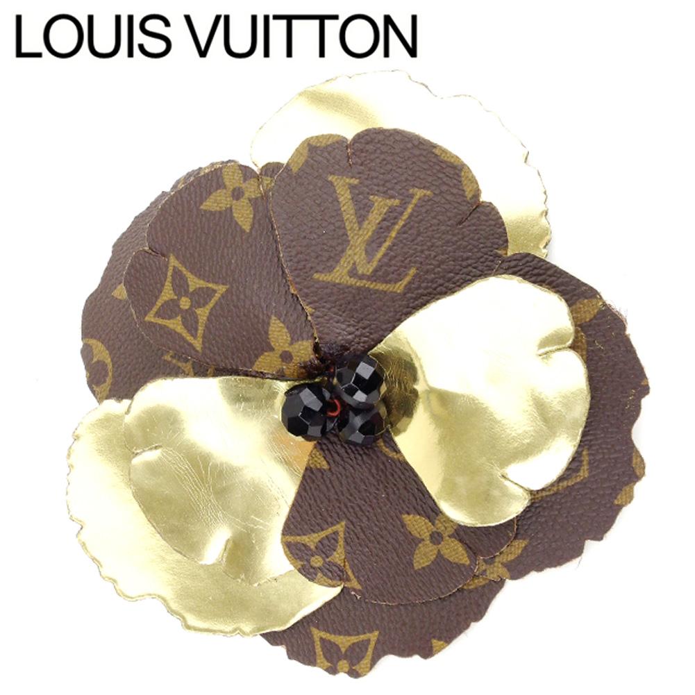 【中古】 ルイ ヴィトン Louis Vuitton ブローチ メンズ可 モノグラム PVC×レザー 人気 セール T7394 .
