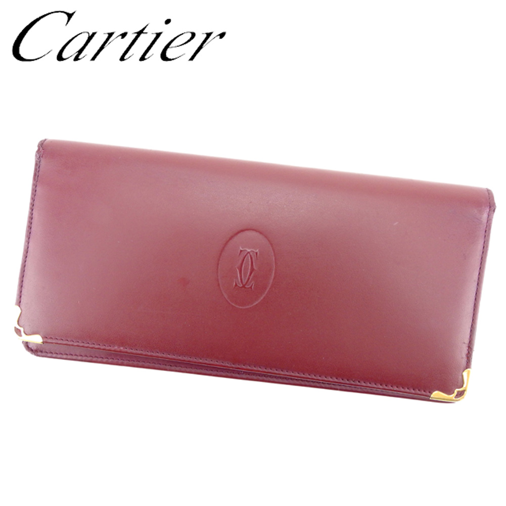 cheap for discount 496ce fc806 安い割引 【中古】 カルティエ Cartier 長財布 ファスナー付き ...