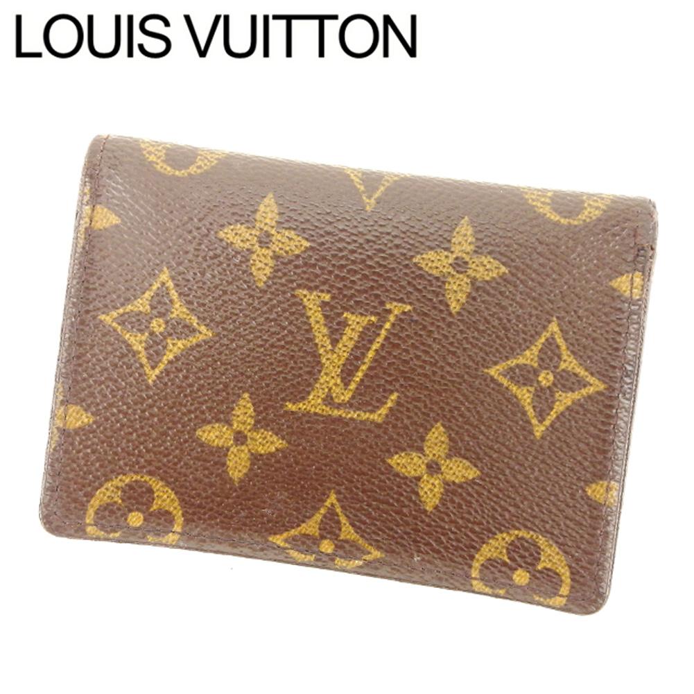 【中古】 ルイ ヴィトン Louis Vuitton 定期入れ パスケース メンズ可 ポルト2カルトヴェルティカル モノグラム ブラウン ベージュ モノグラムキャンバス 人気 セール T7557 .