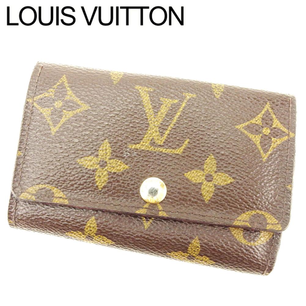 【中古】 ルイ ヴィトン Louis Vuitton キーケース 6連キーケース メンズ可 ミュルティクレ6 ブラウン ベージュ ゴールド モノグラムキャンバス T7558
