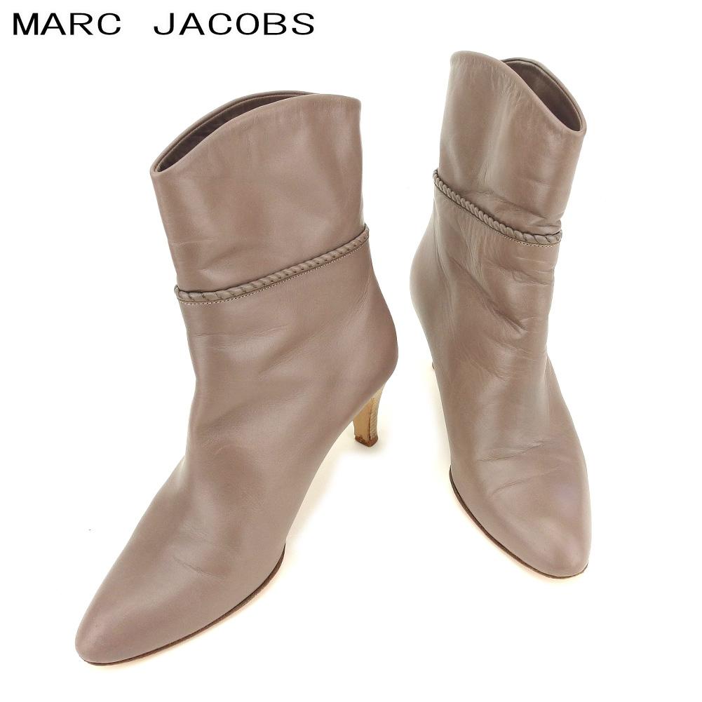 【中古】 マークジェイコブス MARC JACOBS ブーツ シューズ 靴 レディース #37 パープル レザー E1270 .