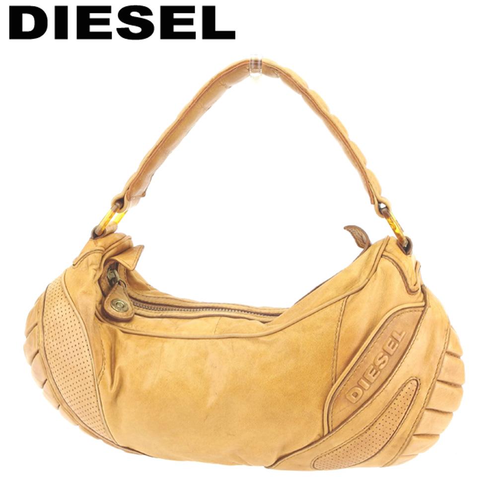 【中古】 ディーゼル DIESEL ショルダーバッグ ショルダーバッグ レディース  ライトブラウン レザー 人気 セール G1261