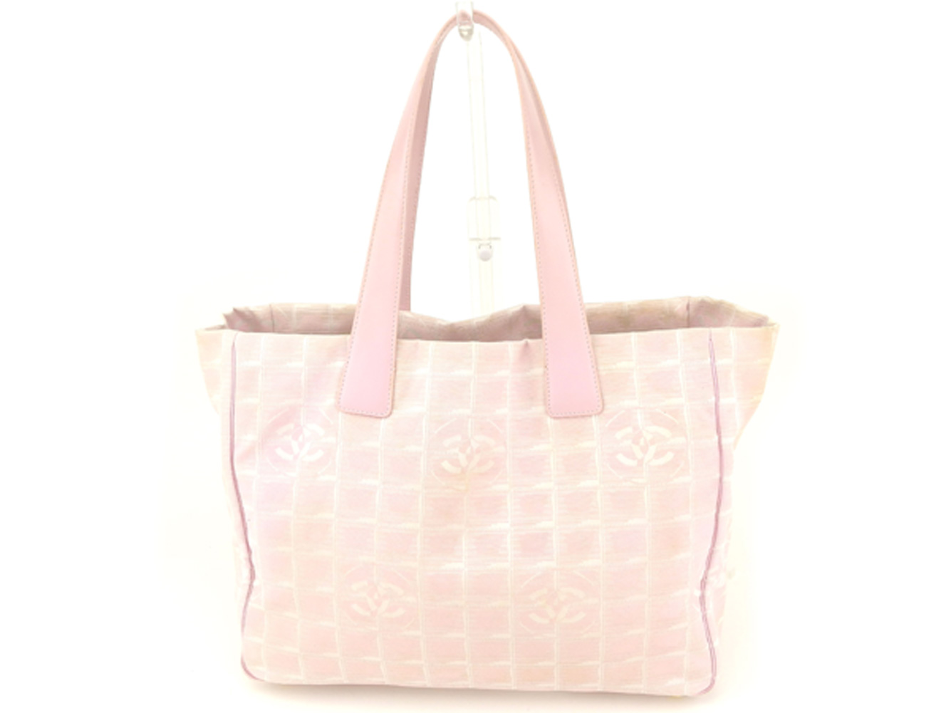 12f57ed96eddb9 BRAND DEPOT TOKYO: Chanel CHANEL tote bag shoulder bag Lady's Thoth MM  current style bell line pink gold nylon jacquard X leather popularity  quality goods ...