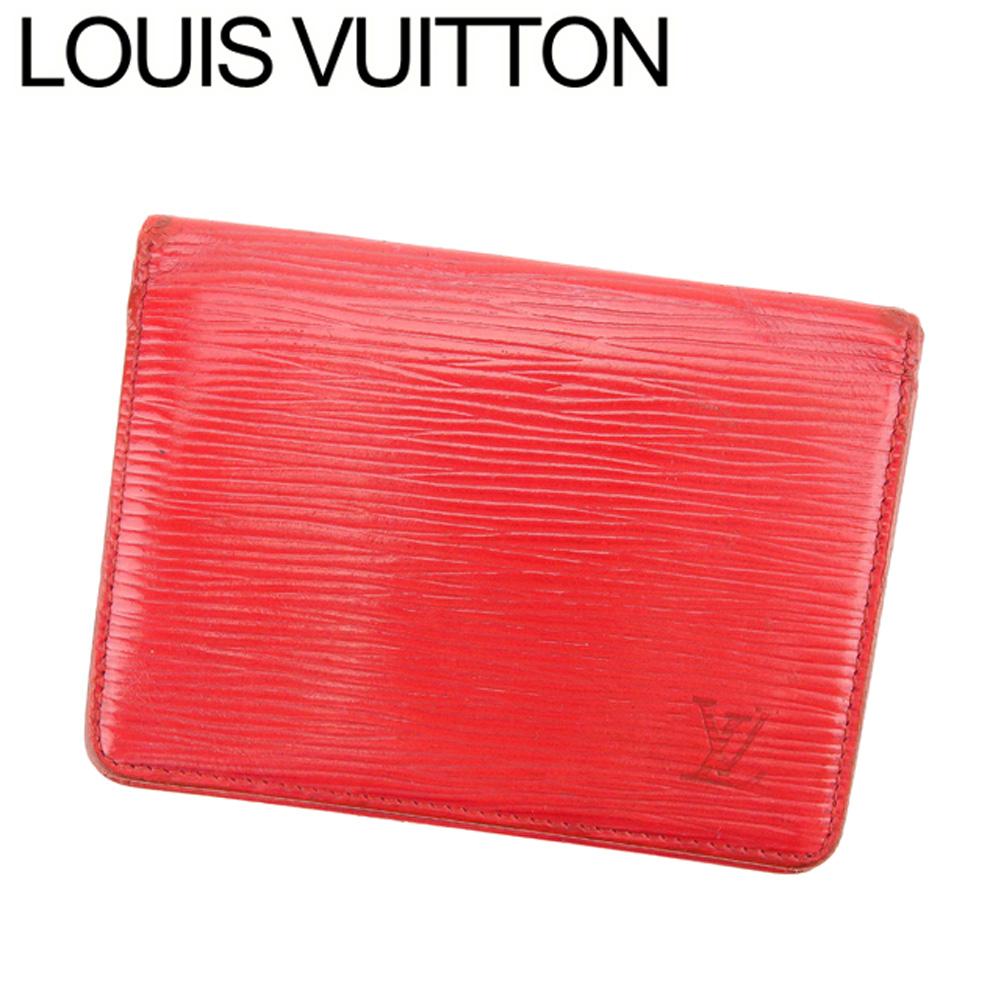【中古】 ルイ ヴィトン Louis Vuitton 定期入れ パスケース レディース メンズ ポルト2カルトヴェルティカル レッド エピレザー C3283 .