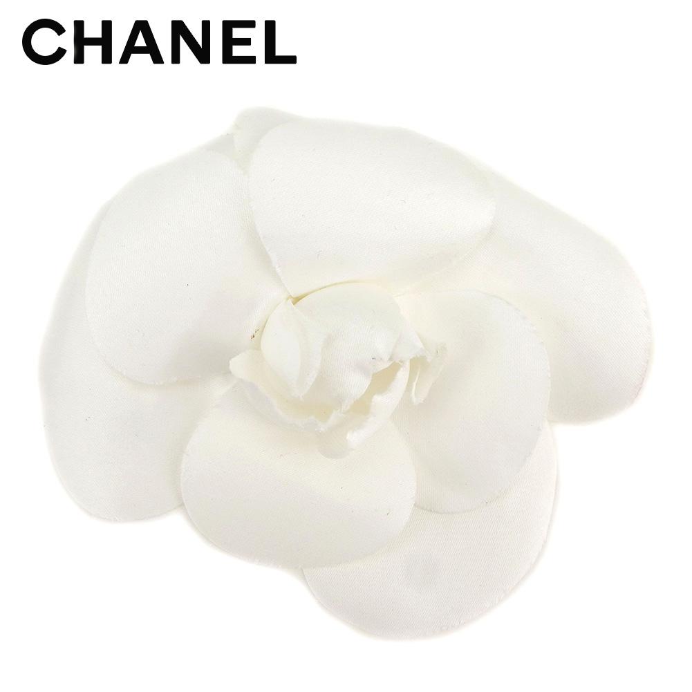 【中古】 シャネル CHANEL コサージュ アクセサリー レディース カメリア ホワイト 白 ヴィンテージ 人気 C3495 .