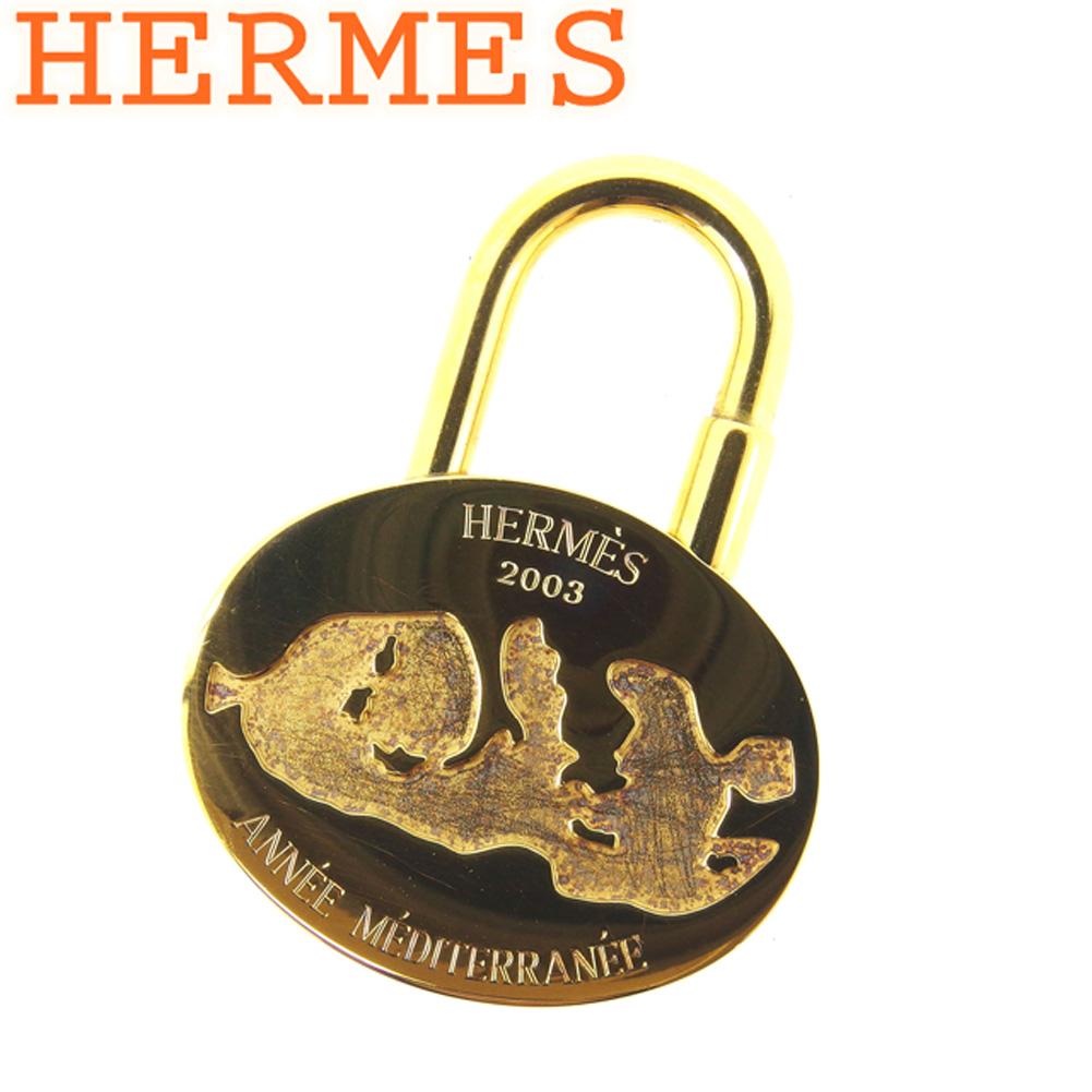 【中古】 エルメス HERMES カデナ キーホルダー チャーム レディース メンズ ANNEE MEDITERRANEE 地中海2003年限定 ゴールド ゴールドメッキ 人気 良品 D1865 .