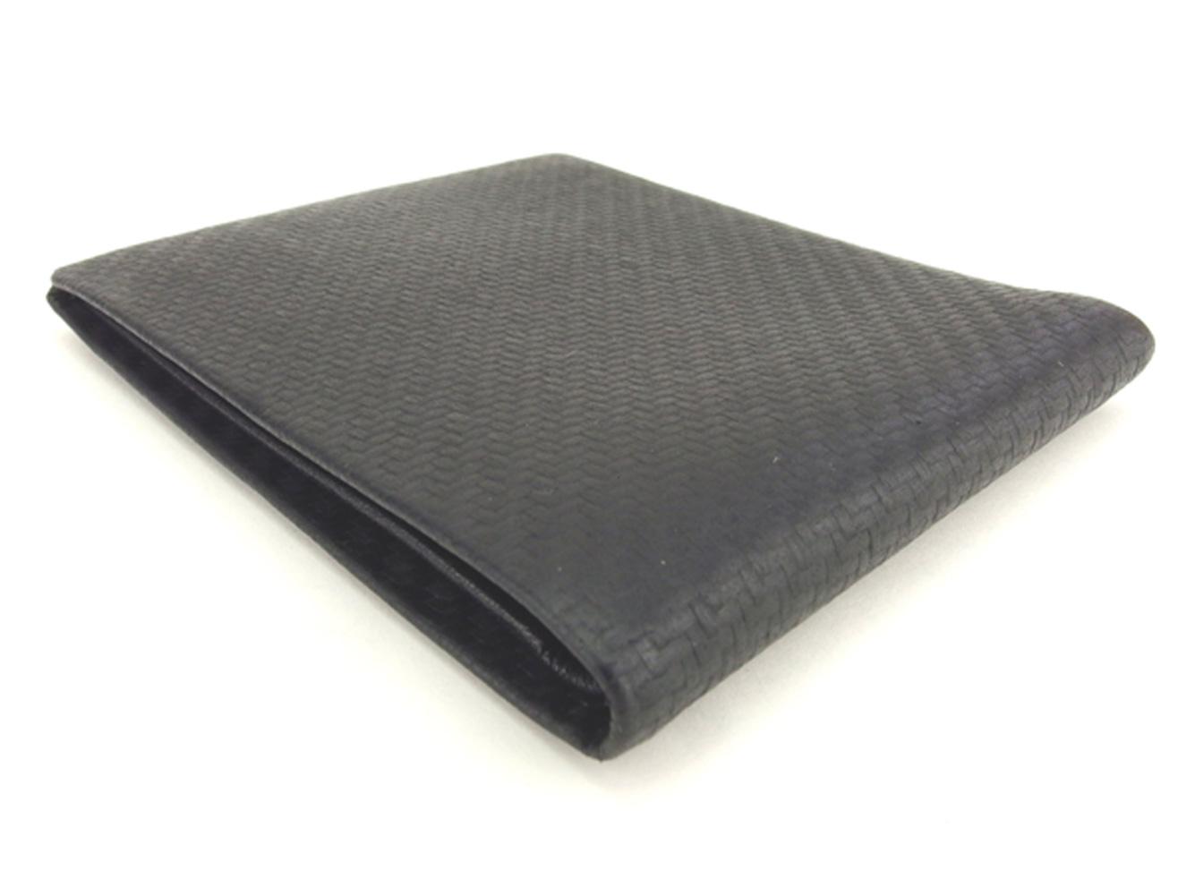 ダンヒル dunhill 二つ折り 札入れ メンズ ブラック カーボン加工マットプリンテッドレザー T7991OkiuPZXT