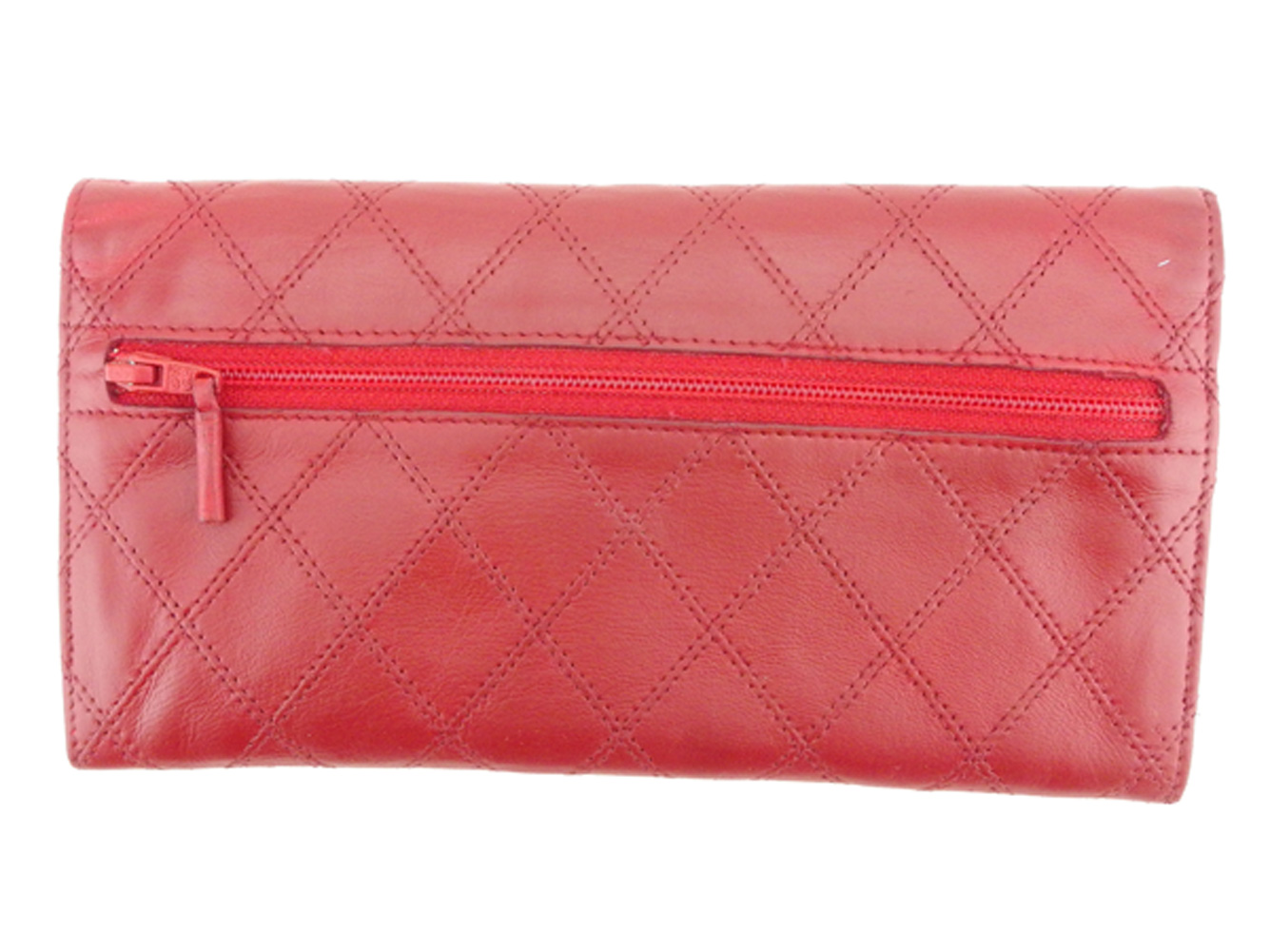 cb2eab9a00b8 ... Wallet Lady's old Chanel matelasse red gold lambskin vintage beauty  product T7994 with the Chanel CHANEL ...
