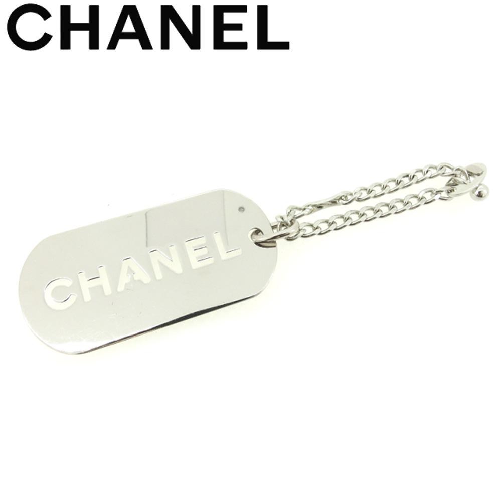 【中古】 シャネル CHANEL キーホルダー チャーム レディース メンズ オールドシャネル ロゴプレート シルバー シルバー金具 ヴィンテージ 美品 T8014 .