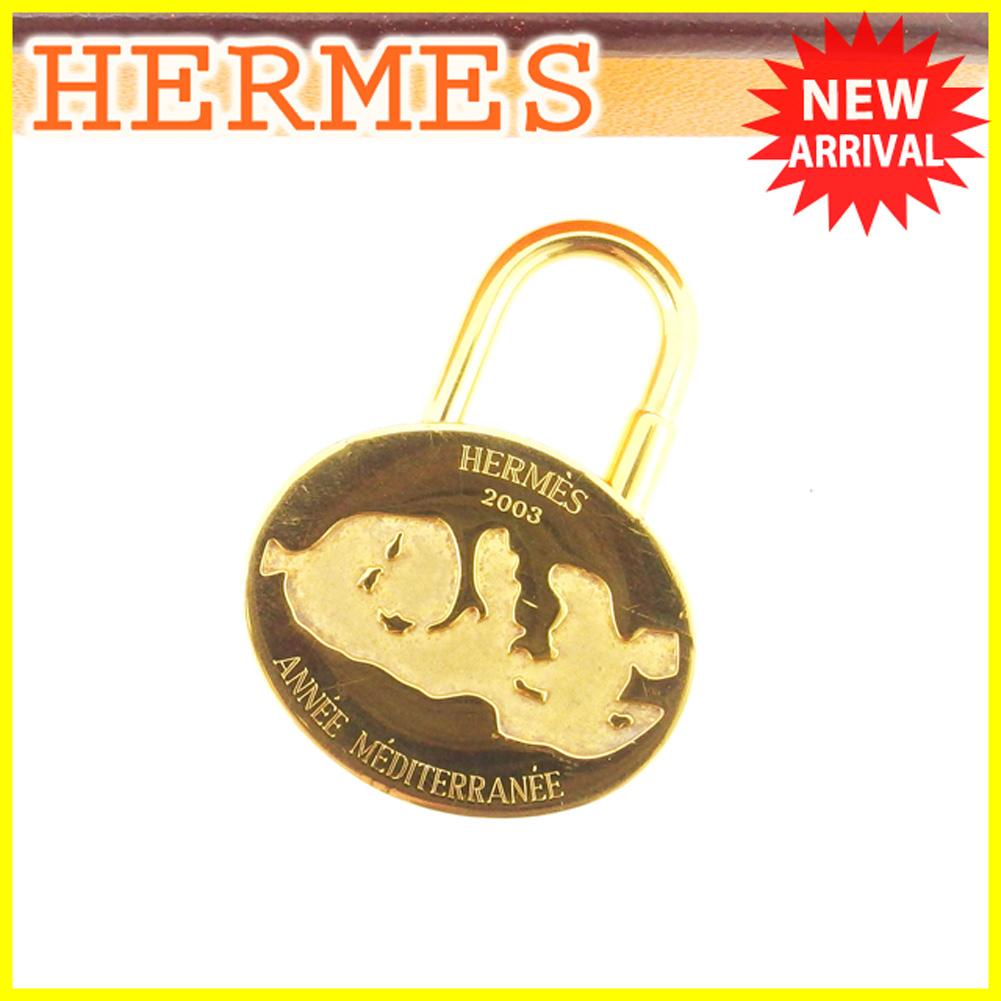【中古】 エルメス HERMES カデナ パドロック 南京錠 レディース メンズ 可 2003年 ゴールド ゴールド 限定 T6208 .