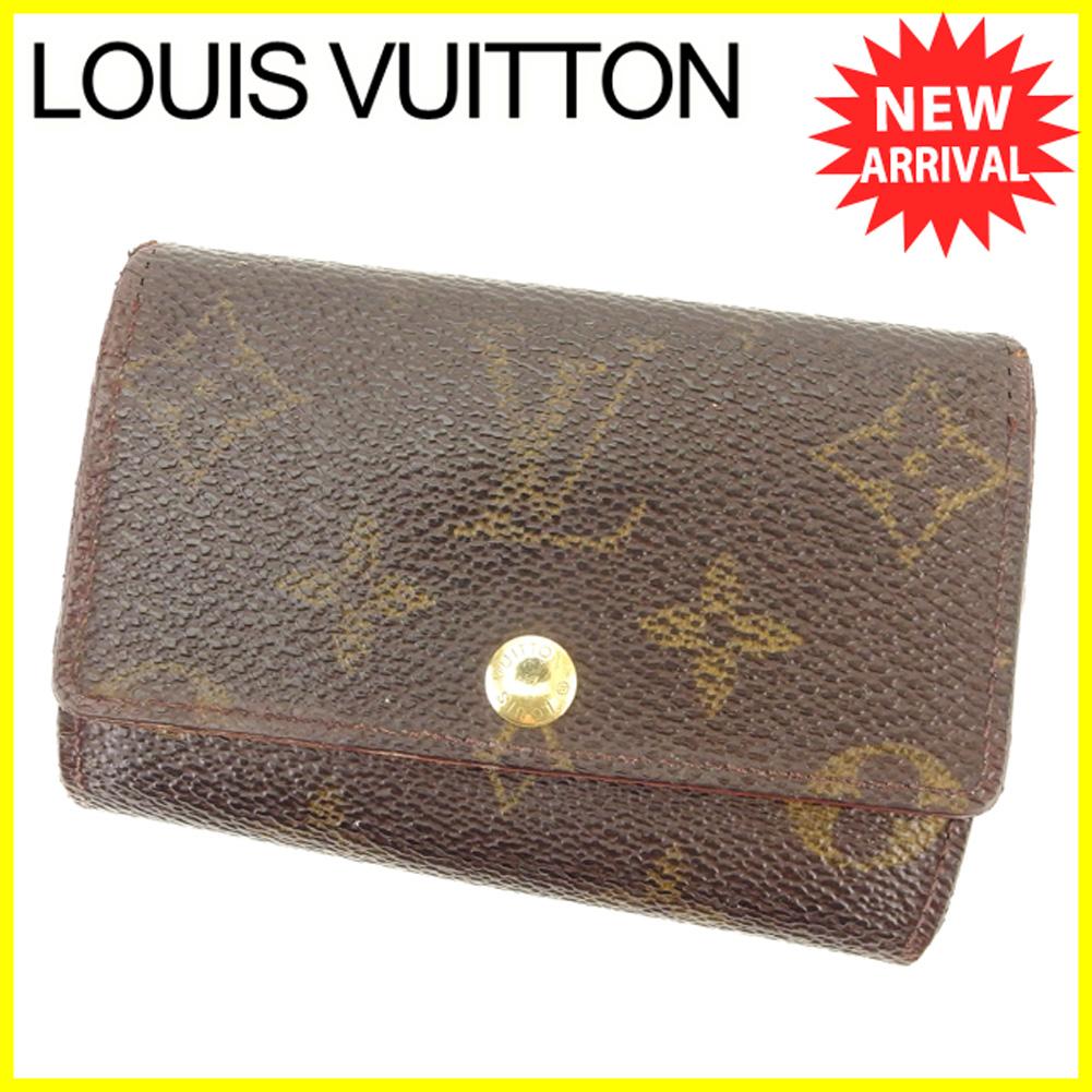 【中古】 ルイ ヴィトン Louis Vuitton キーケース 6連キーケース メンズ可 ミュルティクレ6 モノグラム ブラウン PVC×レザー 人気 セール T6350 .