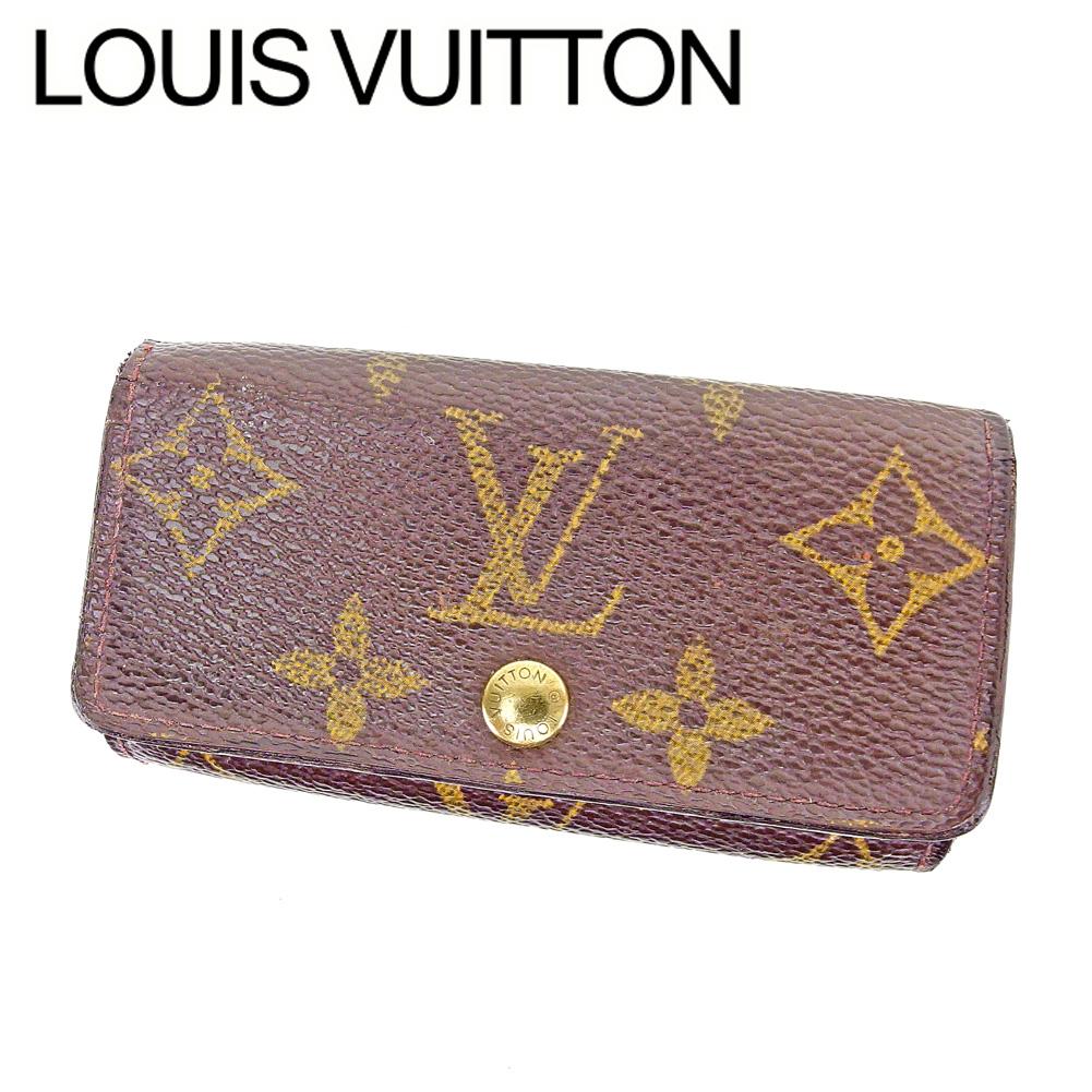 【中古】 ルイ ヴィトン Louis Vuitton キーケース 4連キーケース メンズ可 ミュルティクレ4 モノグラム ブラウン モノグラムキャンバス 人気 セール T6576 .