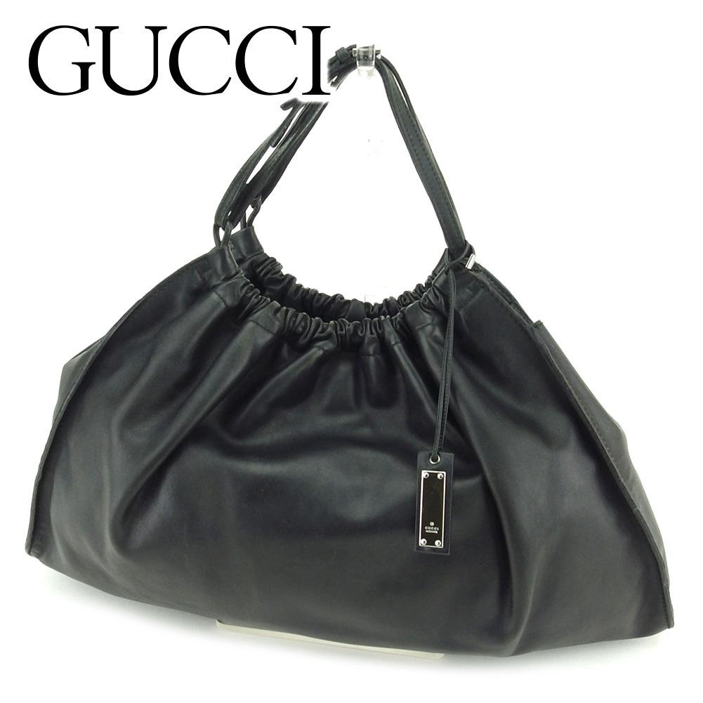 【中古】 グッチ Gucci ハンドバッグ バック バッグ バック ブラック メンズ可 T6532s .