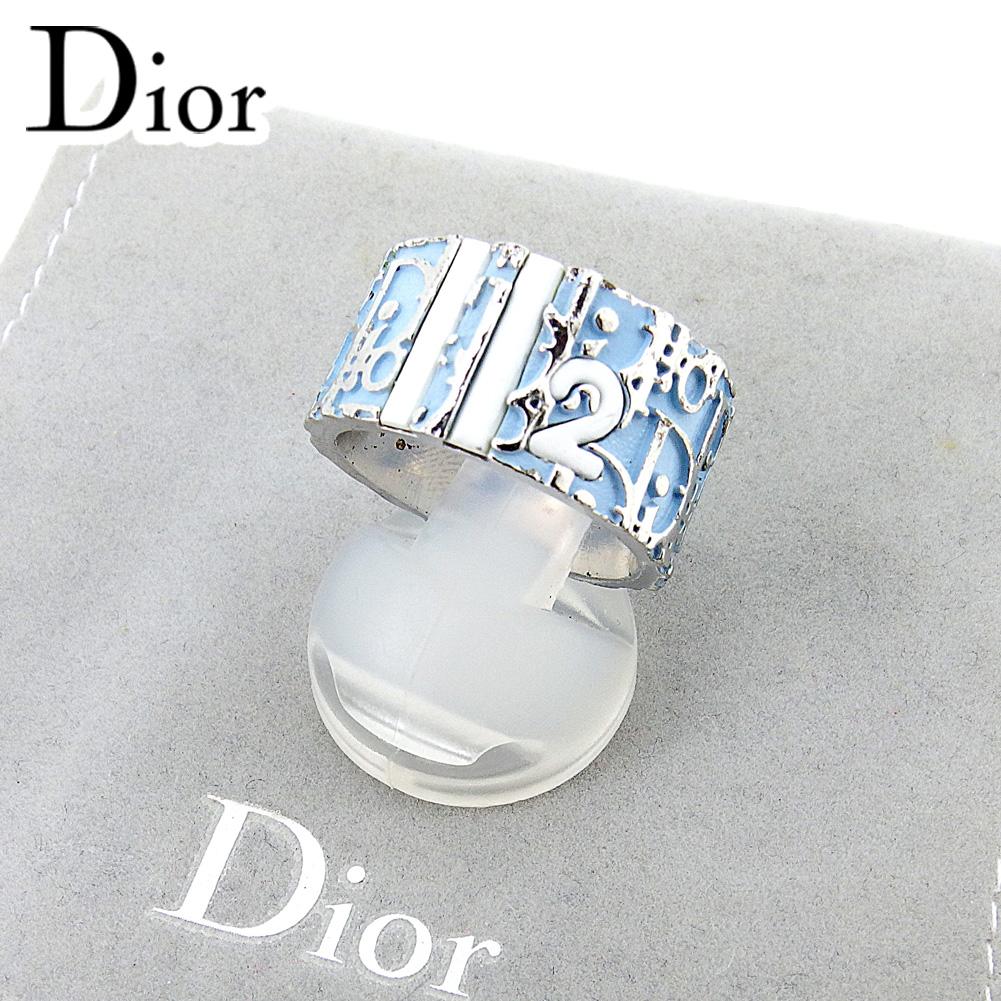 【中古】 ディオール Christian Dior 指輪 リング シルバー ブルー トロッター レディース T6647s