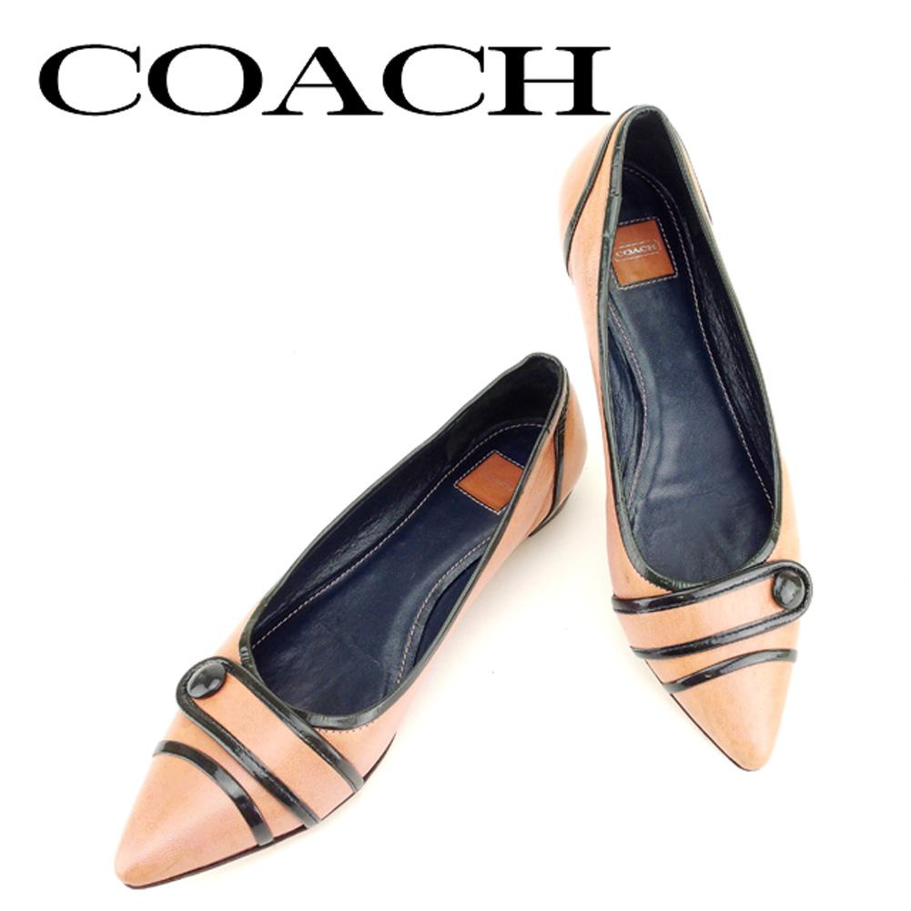 904af57f64d Coach COACH pumps shoes shoes men s possible  6 black pink leather  popularity sale T6730.