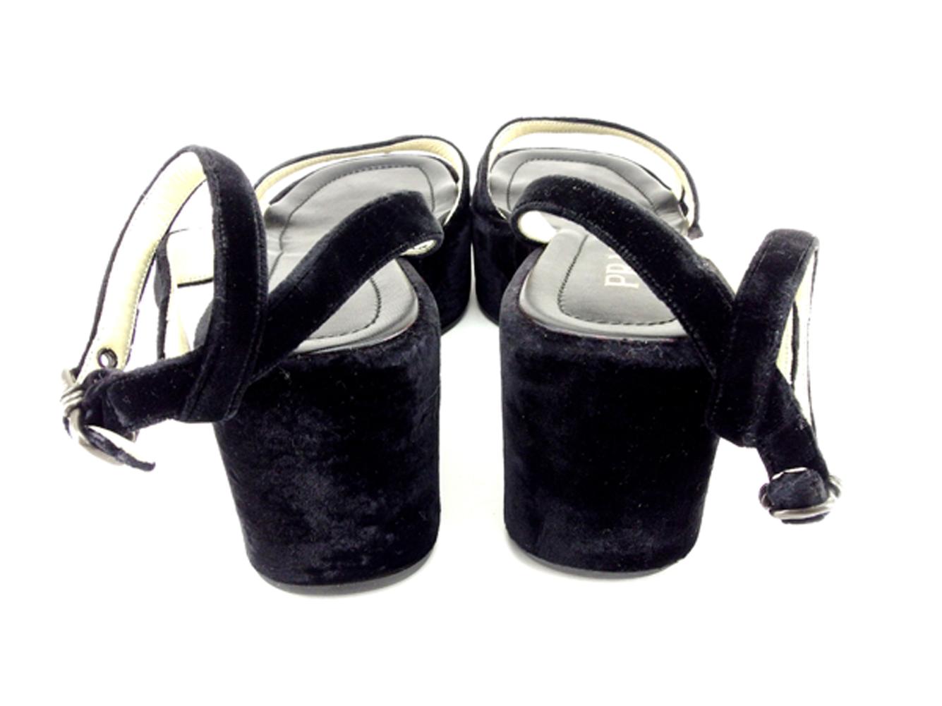 26159b8e553f ブラック #36 メンズ可 シューズ 靴 サンダル PRADA プラダ 【中古 ...