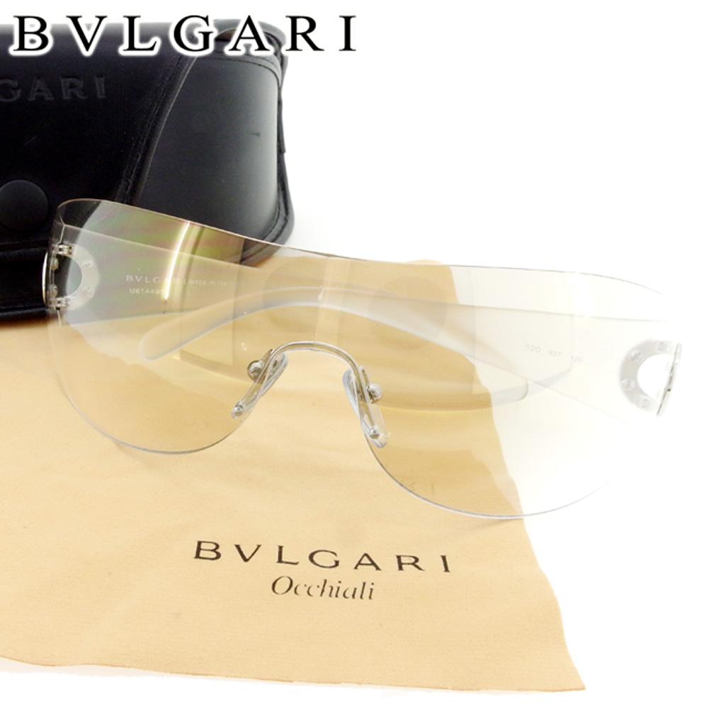 0dbf61bd1a14 【中古】 ブルガリ BVLGARI サングラス アイウエア レディース メンズ 可 ブルガリブルガリ グレー 灰色 ホワイト