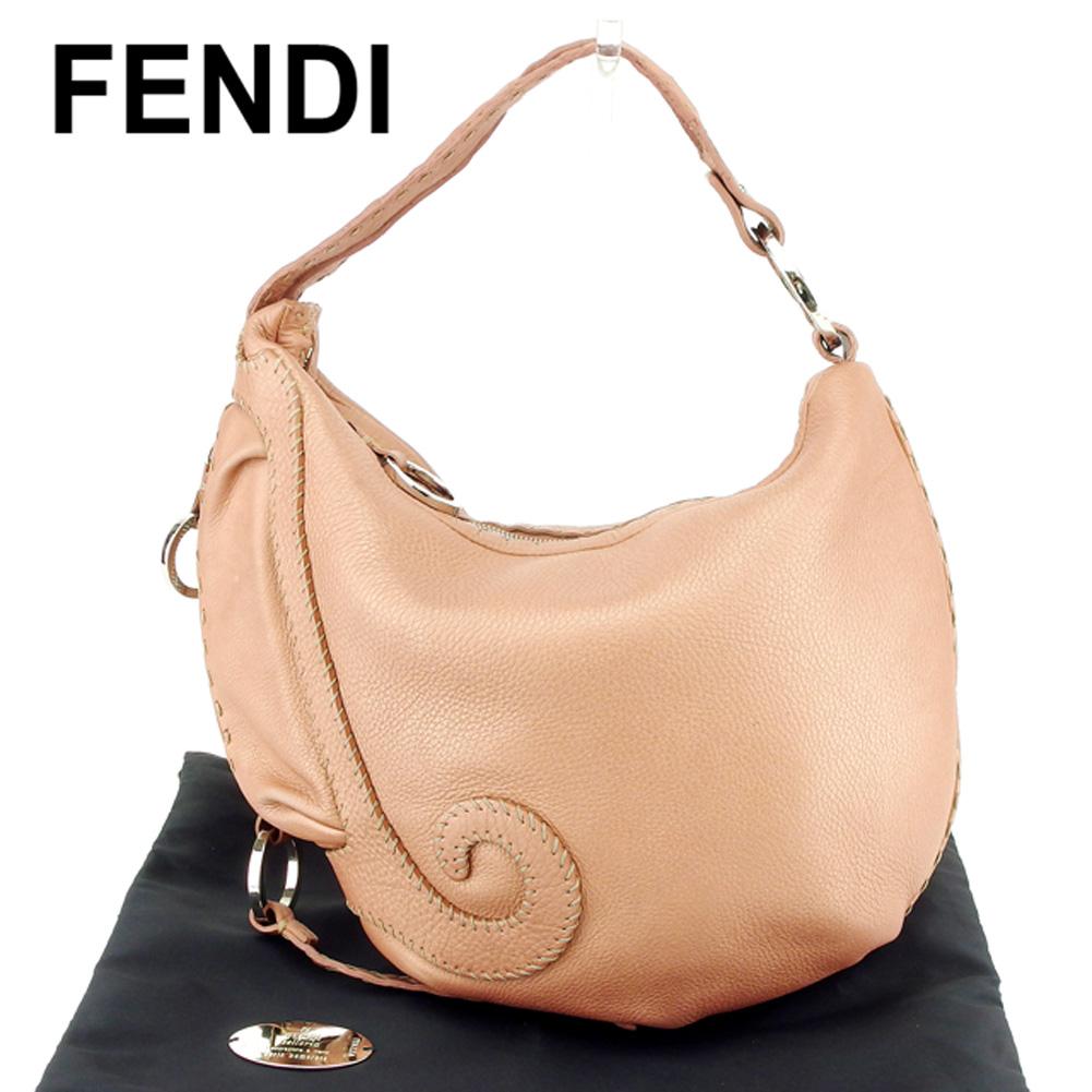 【中古】 フェンディ FENDI ショルダーバッグ ワンショルダー レディース セレリア ピンク レザー 人気 セール T6880