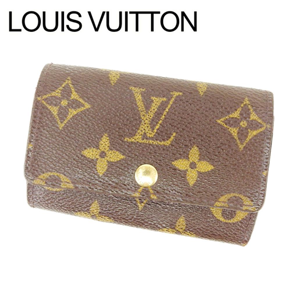 【中古】 ルイ ヴィトン Louis Vuitton キーケース 6連キーケース メンズ可 ミュルティクレ6 モノグラム ブラウン ベージュ ゴールド モノグラムキャンバス 人気 セール T6955
