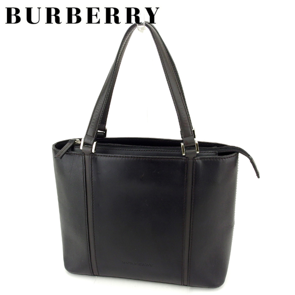 fcf633c43868 Black gray gray silver leather popularity sale T7105 with Burberry BURBERRY  tote bag Thoth handbag lady s men s possible line.