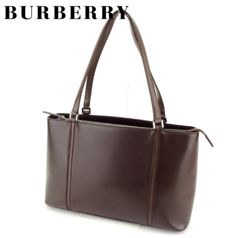 BRAND DEPOT TOKYO  Brown silver leather popularity sale T7112 with Burberry  BURBERRY tote bag shoulder bag lady s men s possible line  f275f58ab9187