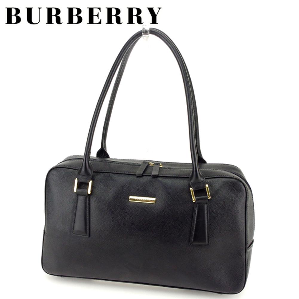 【中古】 バーバリー Burberry ハンドバッグ バック ミニボストンバッグ バック ブラック ノバチェック レディース メンズ 可 T7178s .
