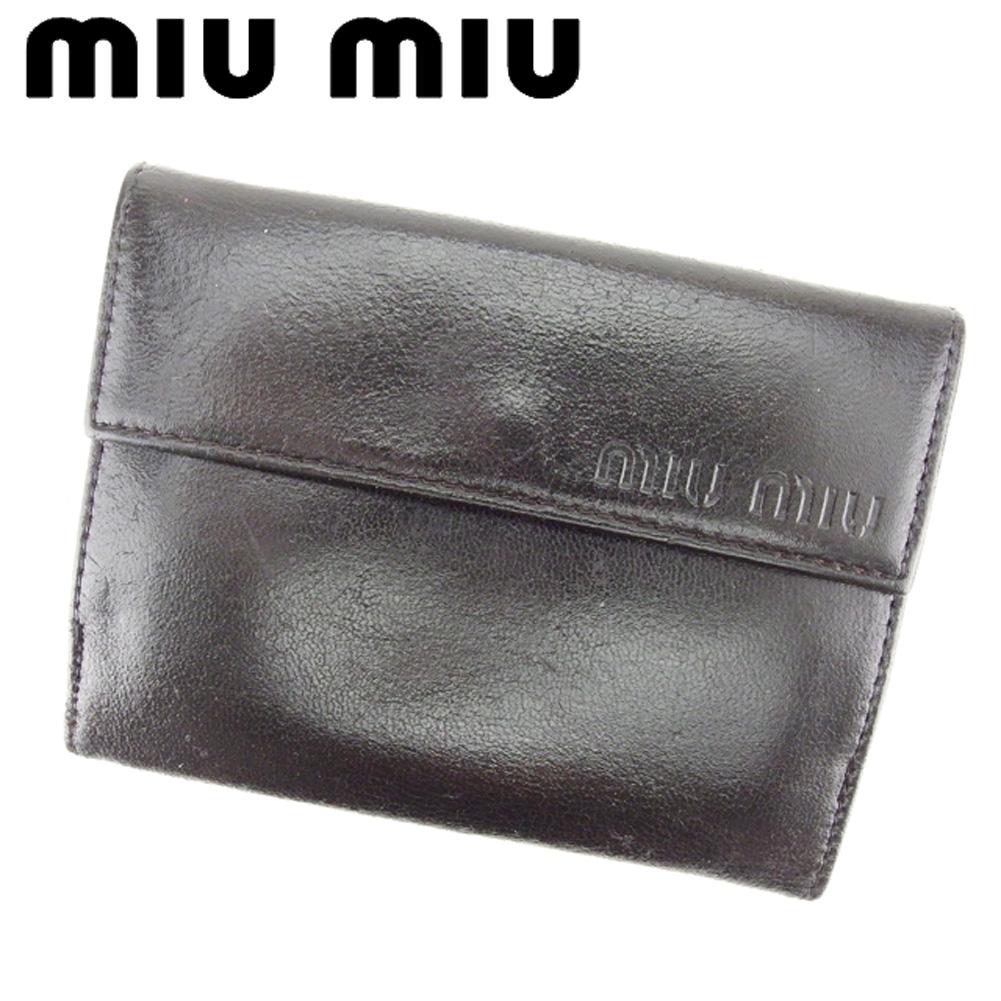 67c3c5605091 シャネル ミュウミュウ スーパー ブランド財布 miumiu Wホック 財布 二 ...