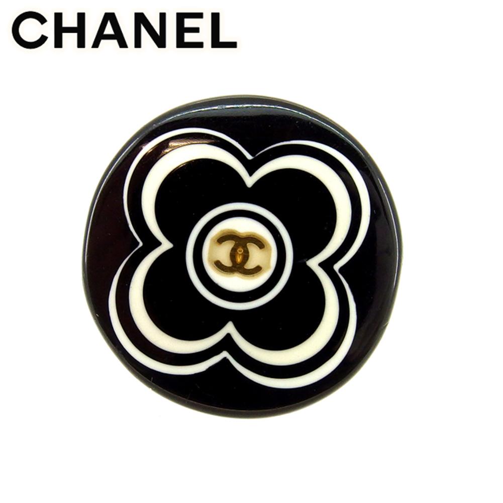 【中古】 シャネル CHANEL 指輪 リング メンズ可 13号 ココマーク ホワイト 白 ブラック 人気 セール T7635 .