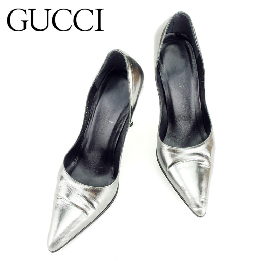 bc3bb0f1286 Gucci GUCCI pumps shoes shoes Lady s ♯ 37C high-heeled shoes pointed Tutsi  rhubarb rack system leather popularity sale B943