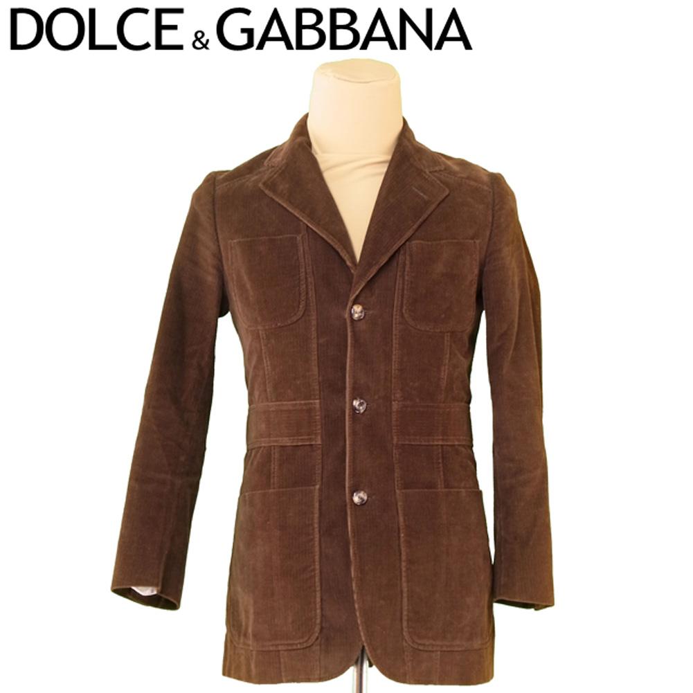 【中古】 ドルチェ&ガッバーナ DOLCE&GABBANA ジャケット テーラード 3つボタン メンズ コーデュロイ ブラウン ジャケット T6666s .