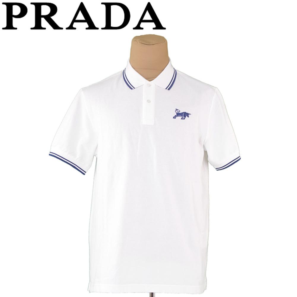 f18af76c White white navy polo shirt T7285s with Prada PRADA polo shirt short  sleeves men border line ...