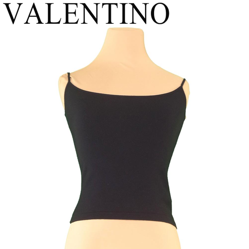 【値引きクーポン】 【中古】 ヴァレンティノ VALENTINO キャミソール インナー レディース ♯Sサイズ ブラック ウールWO 80%ナイロンNY 20% T7414 .