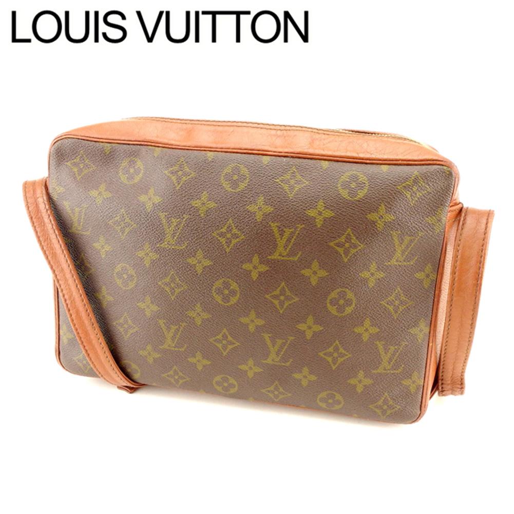 【中古】 ルイ ヴィトン Louis Vuitton ショルダーバッグ バック 斜めがけショルダー ブラウン ベージュ ゴールド サックバンドリエール モノグラム メンズ可 T7430s .