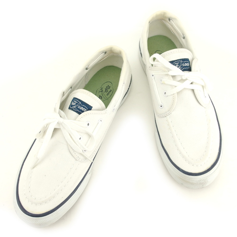 Sperry topsider Sperry Top-Sider sneakers shoes shoes men sea mate white  white navy canvas X rubber sneakers T7806s 34f906712